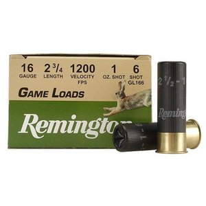 "Remington Remington Game Loads 16 Gauge 2-3/4"" 1oz #6 (#2004-GL166)"