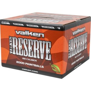 Valken Valken Reserve Paintballs (2000 ct) White Fill / Orange & White Shell