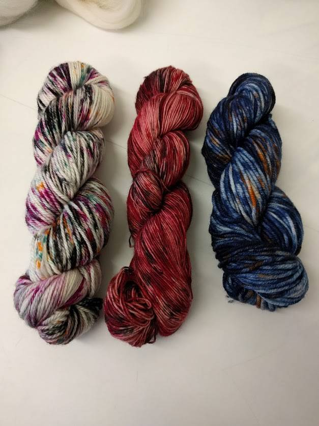 Splatter Shot Dye Work Shop with Lorna's Laces