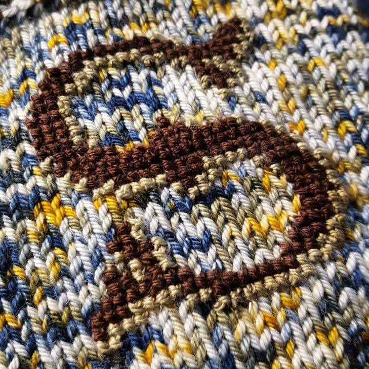1/25 - X Marks the Swatch-Knitted Embroidery over Waste Canvas 2pm-5pm