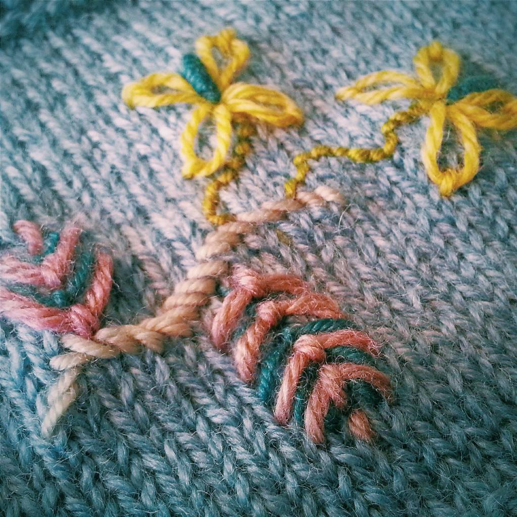 1/26/18 - Embroider Your Knitting: Level One  10am-1pm