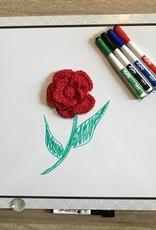 2/13/18 - Crocheted 5-Petal Rose