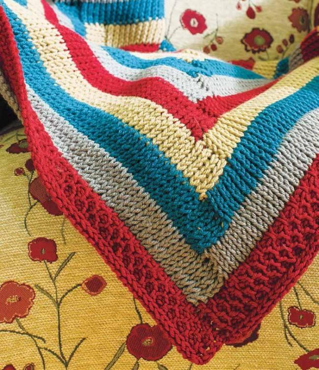 2/15/18 - Log Cabin Afghan (Tunisian Crochet)