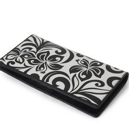 Wallet Hibiscus RFID Slim Black