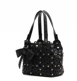 Flower Cutout Bag X-Small Black