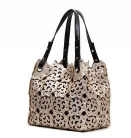Flower Cutout Bag Rosegold
