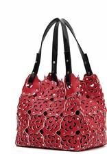 Flower Cutout Bag Valentine Red