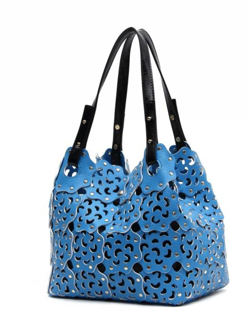 Flower Cutout Bag Sky Blue