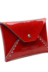 Card Case Small Shiny Red