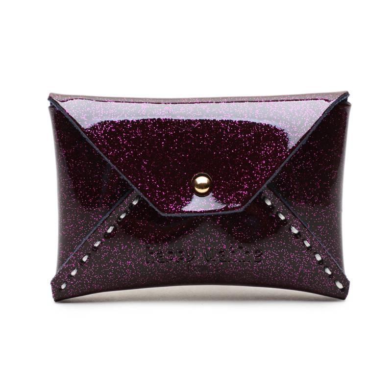 Card Case Small Shiny Purple
