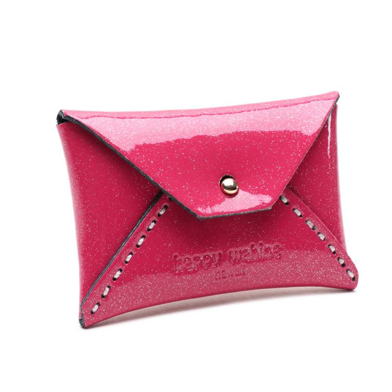 Card Case Small Shiny Pink