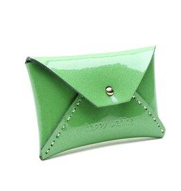 Card Case Small Shiny Green