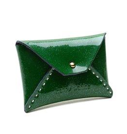 Card Case Small Shiny Dark Green