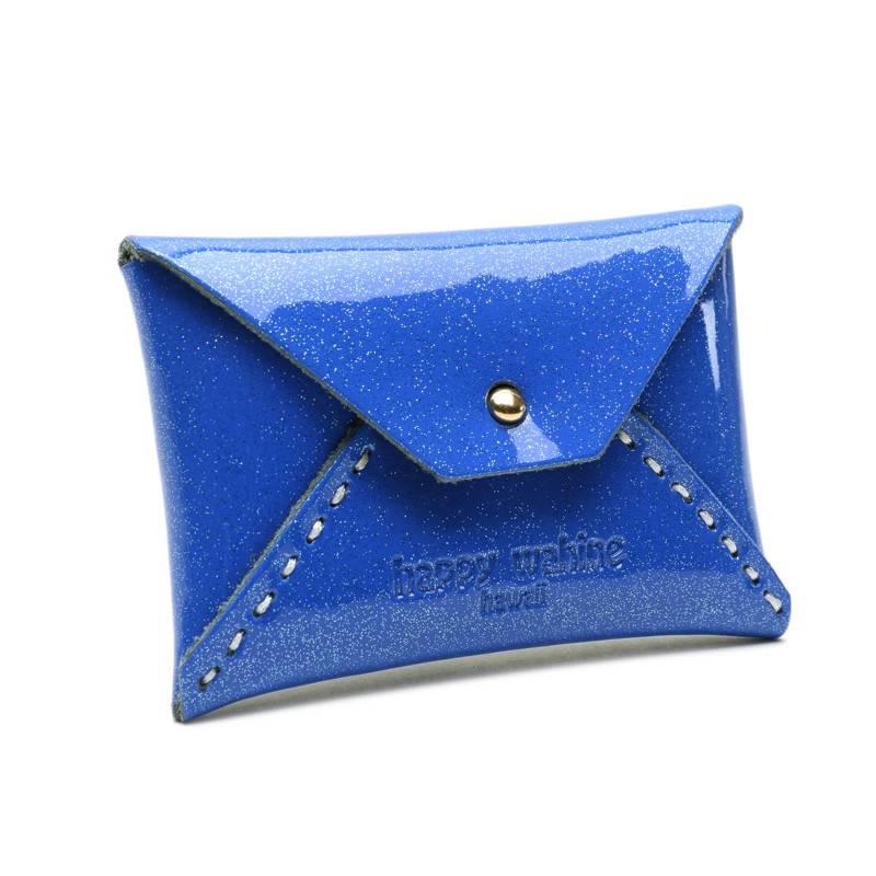 Card Case Small Shiny Blue