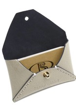 Card Case Small Shiny Beige