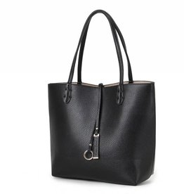 Reversible Tote Black/Rosegold Small