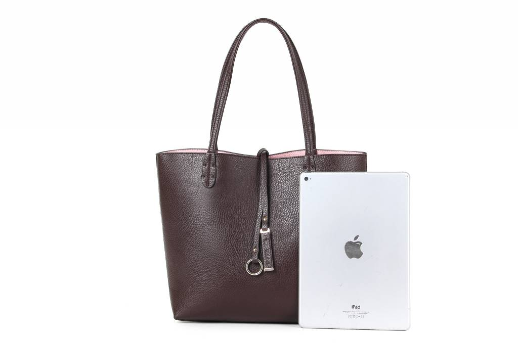 Reversible Tote Brown/Blush Small