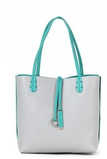 Reversible Tote Green/Grey Small