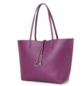 Reversible Tote Purple/Grey