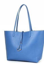Reversible Tote Blue/Beige
