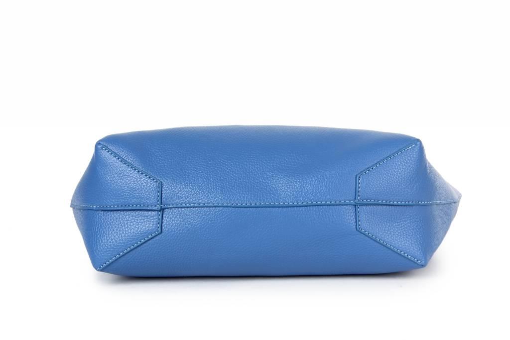 Reversible Tote Blue/Beige