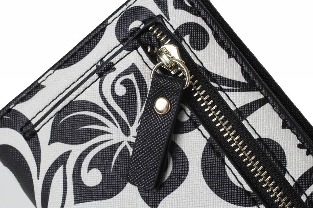 Wallet Hibiscus RFID Slim Black