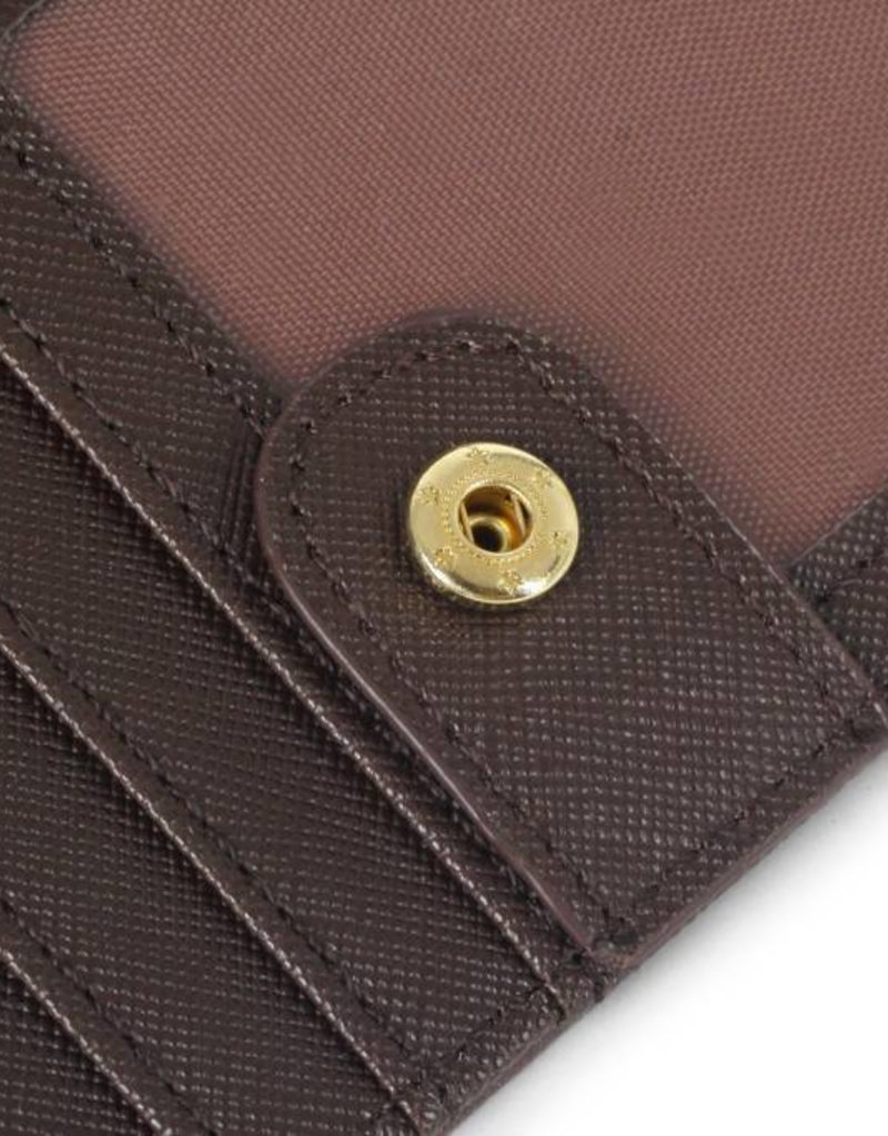 Wallet Hibiscus RFID Slim Brown