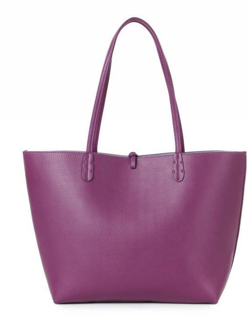 Reversible Tote Purple Grey