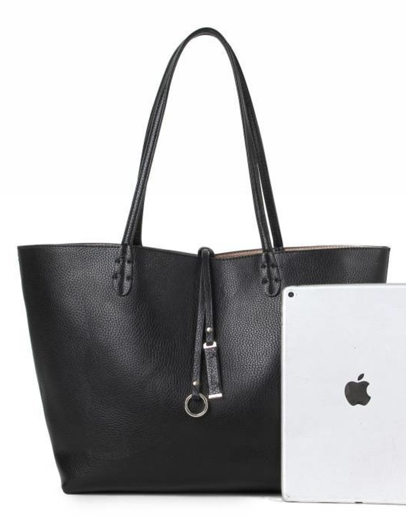 Reversible Tote Black/Rosegold