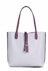 Reversible Tote Purple/Grey Small