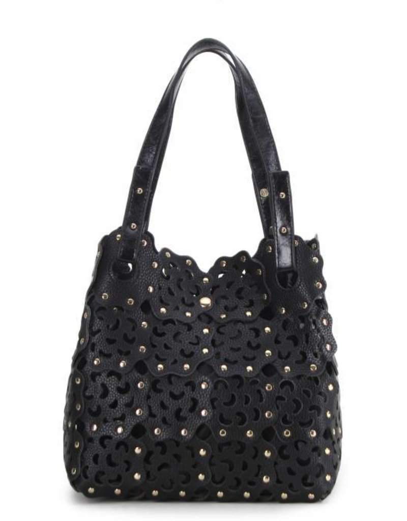 Flower Cutout Bag Black