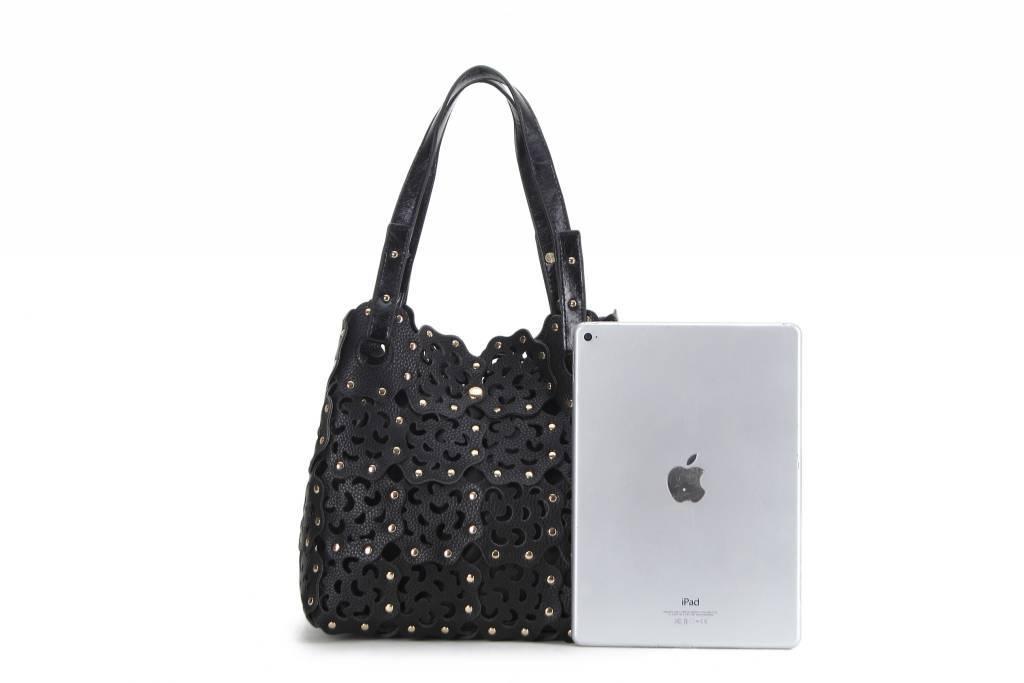 Flower Cutout Bag Black