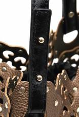 Flower Cutout Bag Bronze