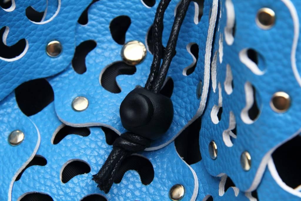 Flower Cutout Bag Sky Blue
