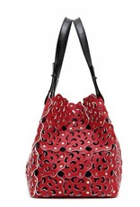 Flower Cutout Bag Valentine Red