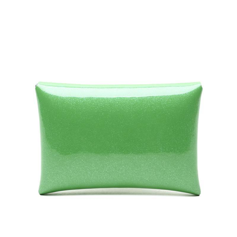 Card Case Small Shiny Green
