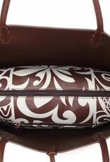 Reversible Tote Brown/Tapa Tiare