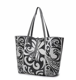 Reversible Tote Nancy Tapa Tiare Grey Large