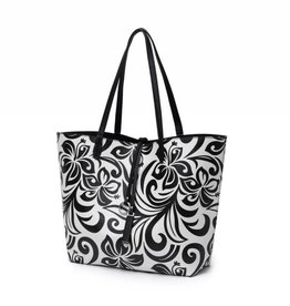Reversible Tote Nancy Hibiscus Black Large