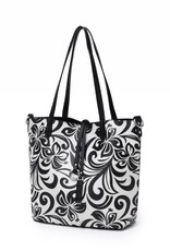 Reversible Tote Nancy Hibiscus Black Small