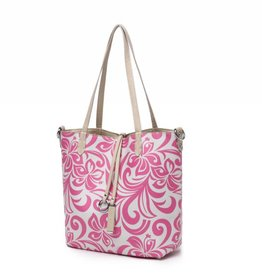 Happy Wahine Reversible Tote Nancy Hibiscus Pink Small