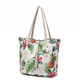 Reversible Tote Nancy Vintage Pineapple Beige Small