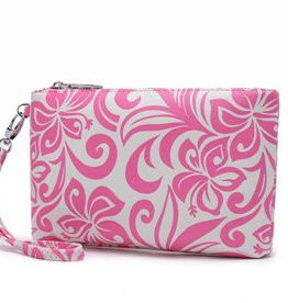 Happy Wahine Wristlet Melody Hibiscus Pink