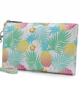 Happy Wahine Wristlet Melody Spring Pineapple Green