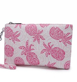 Happy Wahine Wristlet Melody Tapa Pineapple Pink