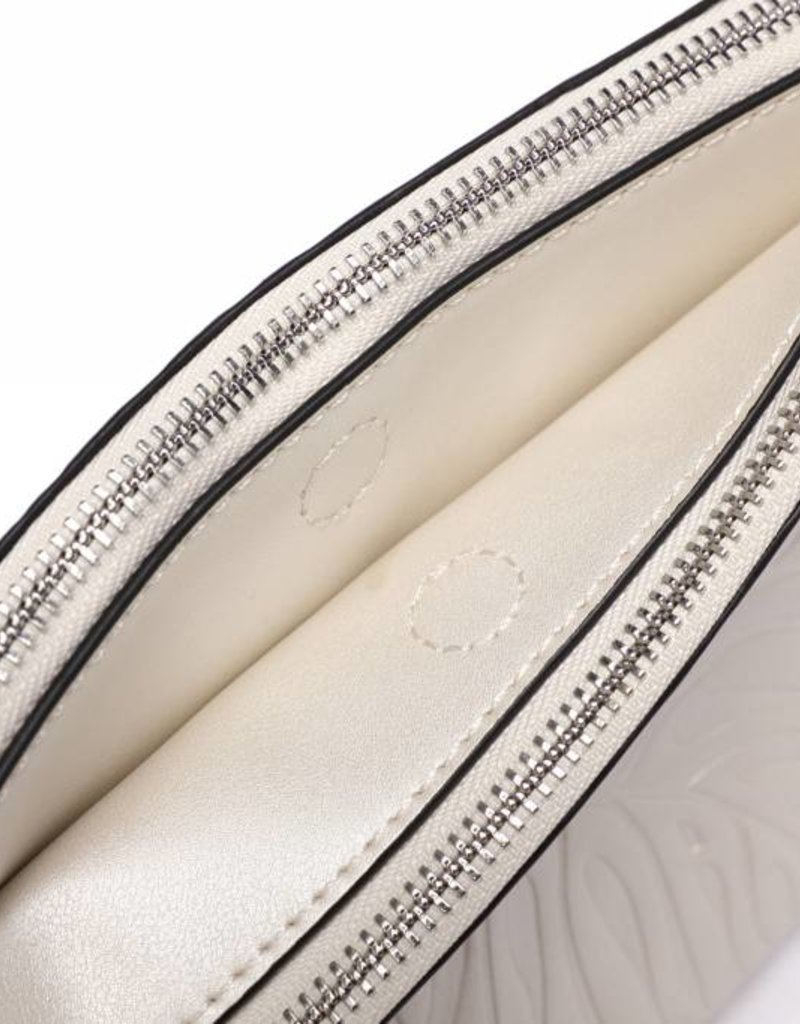 Crossbody Marisa Monstera Embossed Silver