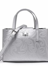 Crossbody Annie Hibiscus Embossed Silver