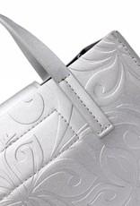 Crossbody Annie Hibiscus Embossed Silver