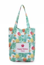 Happy Wahine Everyday HI Tote Spring Pineapple