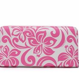 Happy Wahine Wallet Kaylee Hibiscus Pink